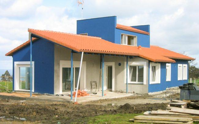 Construcción de chalé en Novellana Asturias