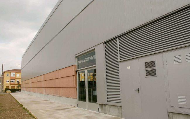 Diseño de polideportivo de Ceares Gijón obra de Dolmen Arquitectos