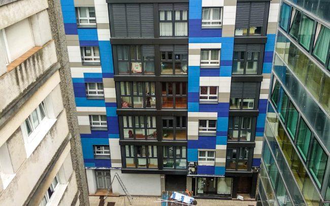Dolmen Arquitectos rehabilitación fachadas Asturias Canga Argüelles Gijón 6