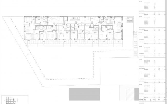 Edificio de viviendas en Gijón Dolmen Arquitectos Asturias planta segunda