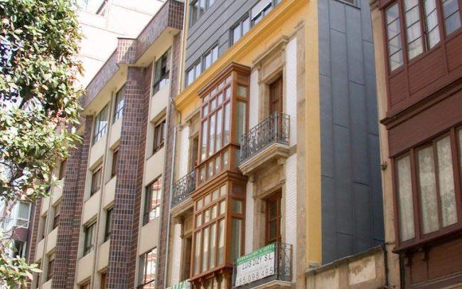 Edificio de viviendas en calle Capua Gijón obra de Dolmen Arquitectos Asturias