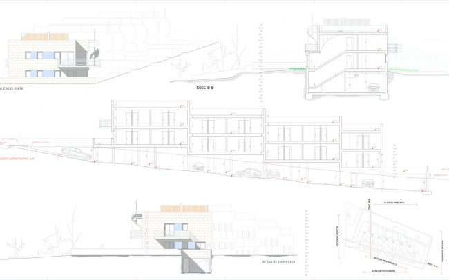 Edificio viviendas colectivas en Mogro Nuragos Grupo Pinta Dolmen Arquitectos alzados