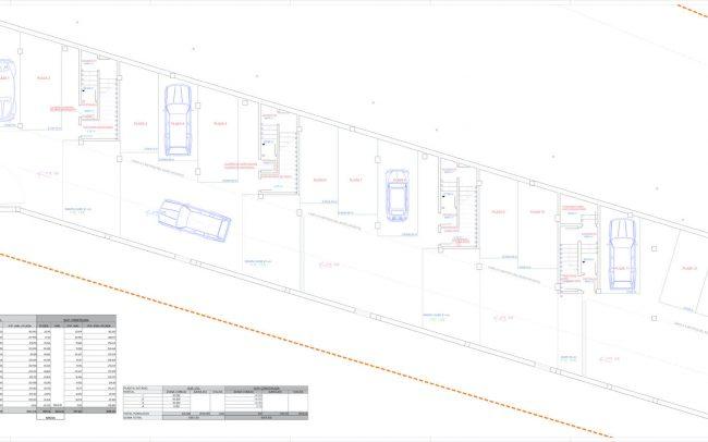 Edificio viviendas colectivas en Mogro Nuragos Grupo Pinta Dolmen Arquitectos planta sótano