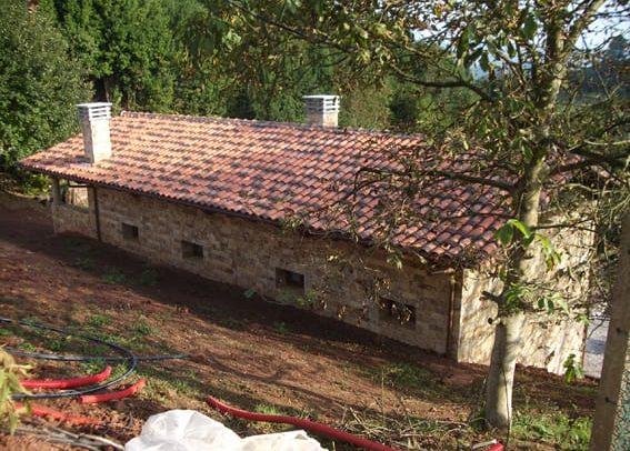 Fachada trasera de vivienda unifamiliar en Siero Asturias