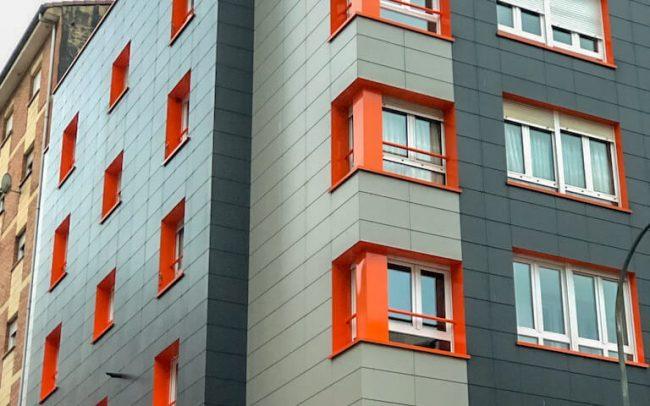 Fachadas Gijón rehabilitación calle Reconquista Dolmen Arquitectos