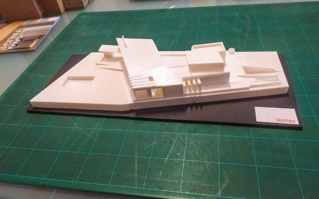 Maqueta impresión 3D vivienda unifamiliar en Morales del Vino Zamora Dolmen Arquitectos Asturias