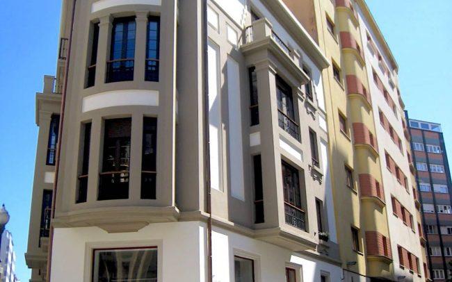 Nuevo aspecto de la fachada calle Instituto Gijon
