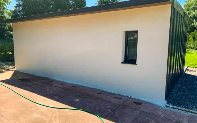 Pabellón auxiliar para piscina en vivienda en Somió Gijón Dolmen Arquitectos Asturias