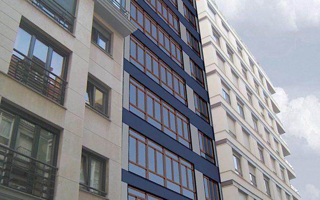 Propuesta 3 de rehabilitacion de fachada en Gijon por Dolmen Arquitectos