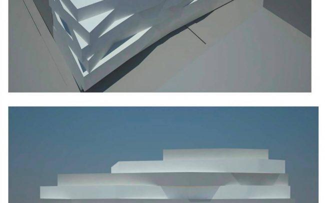 Proyecto de edificio de viviendas y garajes en Gijón calle Ezcurdia estudio de arquitectura Dolmen Arquitectos