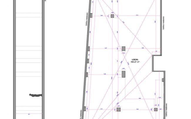 Proyecto de reforma clínica dental Santander obra de Dolmen Arquitectos de Asturias estado actual