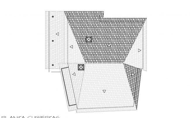 Reforma de casa rural en Castellanos de Sanabria Zamora obra de Dolmen Arquitectos planta cubiertas