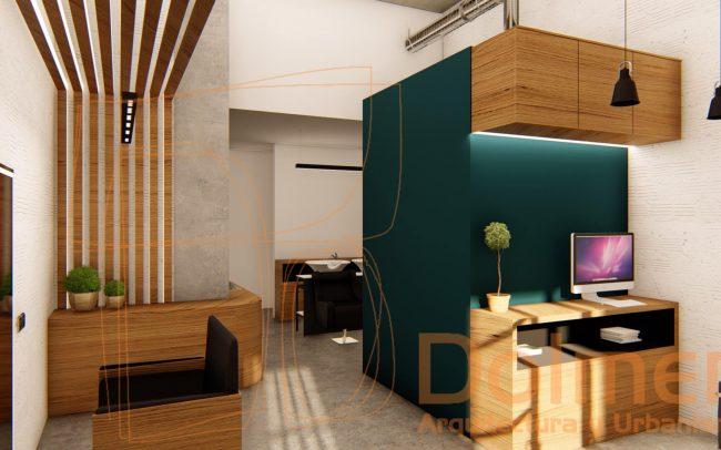 Reforma de peluquería en Gijón proyecto de Dolmen Arquitectos