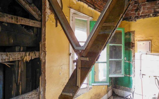 Reforma de piso en Gijón calle Instituto proyecto de Dolmen Arquitectos antes de la reforma