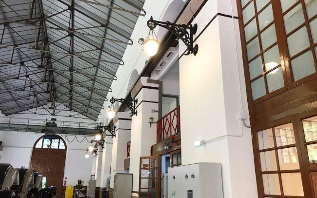 Reforma interior en la central hidráulica de La Malva obra de Dolmen Arquitectos