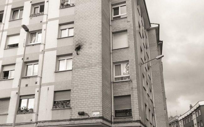 Rehabilitación de fachadas y adecuación de portal en Gijón