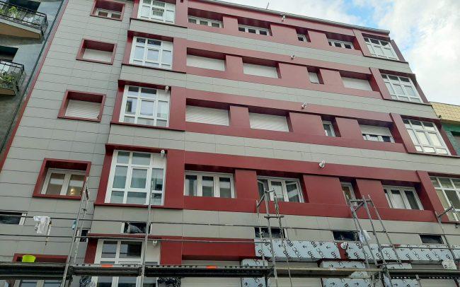 Rehabilitación fachada Fco. de Paula Jovellanos Gijón Dolmen Arquitectos