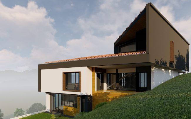 Renders vivienda unifamiliar en Cabueñes Dolmen Arquitectos