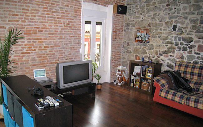 Salon de piso reformado en Gijón Asturias