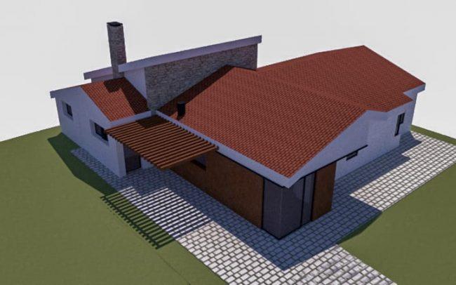 Vivienda unifamiliar aislada en Salón Cudillero Asturias obra del estudio de arquitectura Dolmen Arquitectos de Gijón