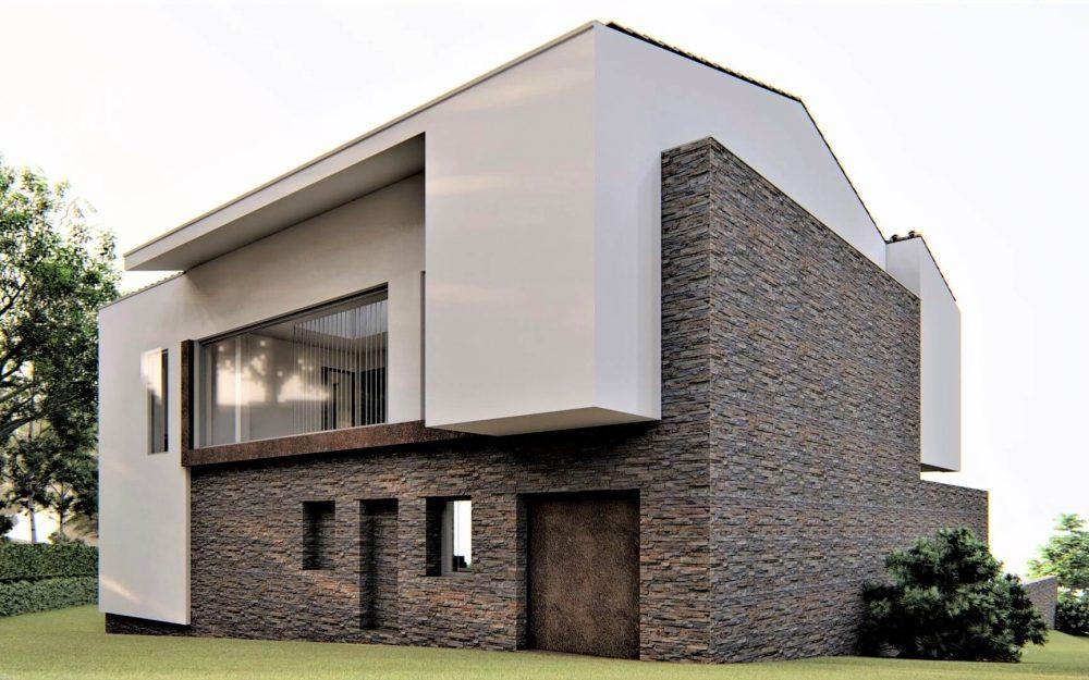 Vivienda unifamiliar con mirador en Tiñana Siero proyecto de Dolmen Arquitectos Asturias