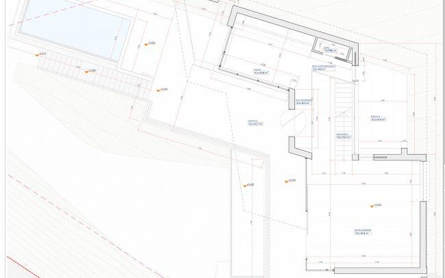 Vivienda unifamiliar en Cabueñes Dolmen Arquitectos accesos