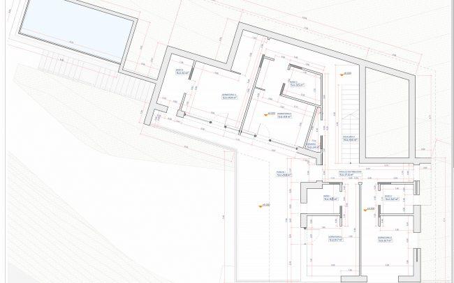 Vivienda unifamiliar en Cabueñes Dolmen Arquitectos planta dormitorios