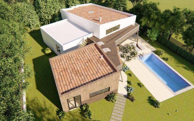 Vivienda unifamiliar en La Coría Gijón proyecto de Dolmen Arquitectos Asturias