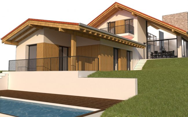 Vivienda unifamiliar en La Tejera Carreño Dolmen Arquitectos Asturias render